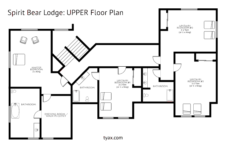 Spirit Bear Lodge Upper Floor Plan